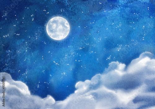 akwarela-nocne-chmury