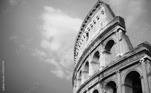Leinwand Poster vintage black and white Colosseum in Rome, Italy
