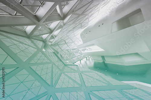 Modern empty atrium interior Wallpaper Mural
