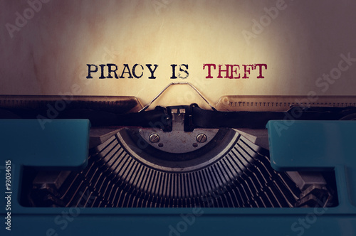 Fotografering  piracy is theft