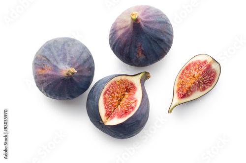 Stampa su Tela sliced fresh figs