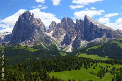Cadres-photo bureau Alpes Seiser Alm, mit Langkofel, Plattkofel,
