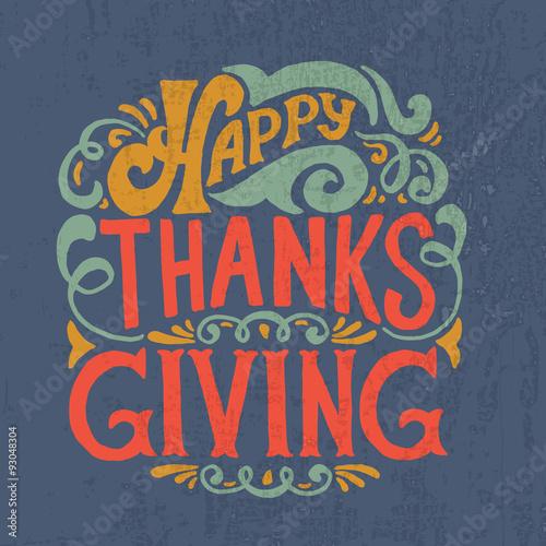Fotografija Happy thanksgiving icon, logo or badge