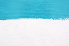 Stripe Of Teal Paint Over Whit...