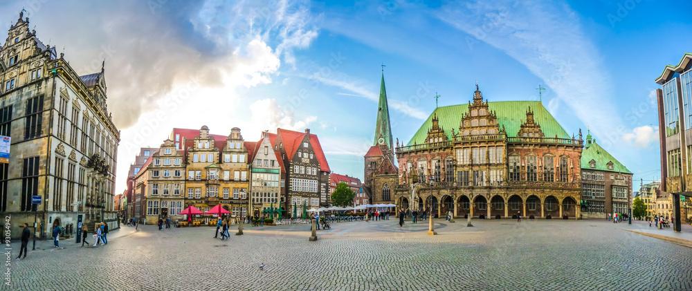 Fototapety, obrazy: Famous Bremen Market Square in the Hanseatic City Bremen, Germany