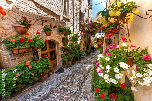 kwiecista-ulica-w-srodkowych-wloszech-w-malym-sredniowiecznym-umbrii