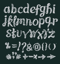 Chalk Font Vector Illustration