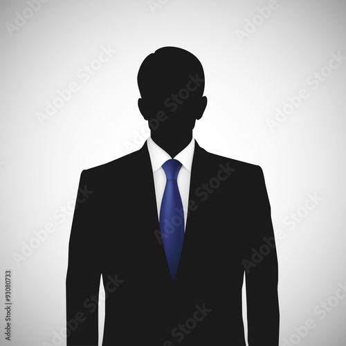 Fotografia  Unknown person silhouette whith blue tie