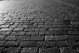 texture of the stone pavement