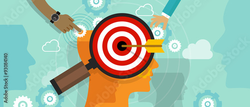 Fotografía  strategy target positioning in consumer customer mind marketing
