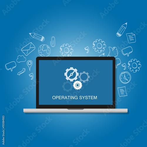 Fotografía  os operating system software computer laptop screen gear icon