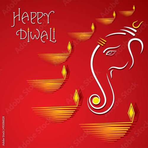 Happy diwali greeting card design vector buy this stock vector and happy diwali greeting card design vector m4hsunfo