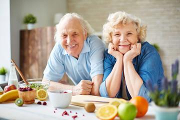 Seniors in the kitchen