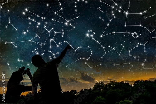 Astrology concept Canvas Print