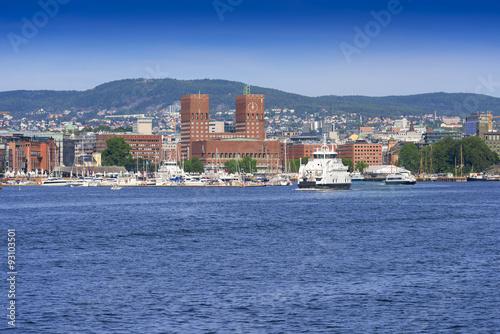 Photo  View of Oslo Radhuset Norway