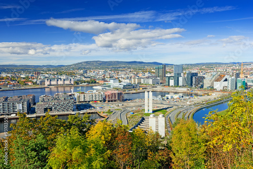 Photo  View of Oslo city Norway