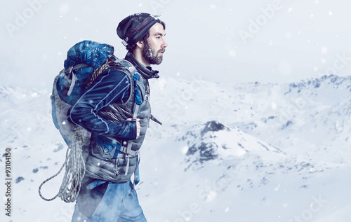 Tuinposter Alpinisme Mountaineer