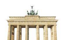 Brandenburg Gate Isolated.