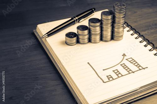 Fotografía  Gráfico de las finanzas