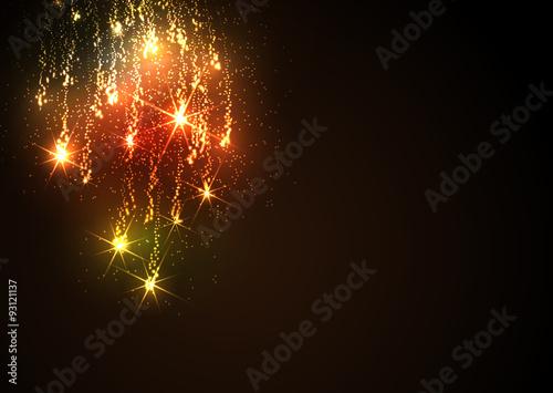 Grußkarten Vorlage Sternschnuppe Meteorid Feuerwerk Abstrakte