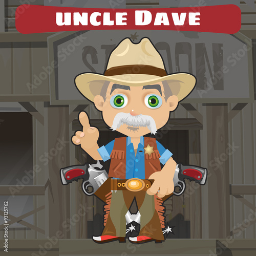 Photo  Cartoon character in Wild West - Wise uncle