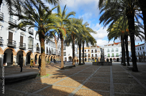 Plaza grande, Zafra, provincia de Badajoz, Extremadura, España