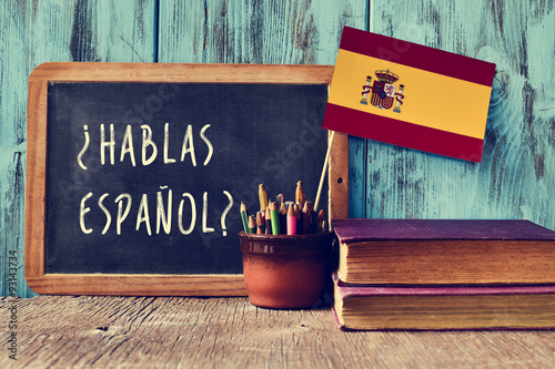 question hablas espanol? do you speak Spanish? Lerretsbilde