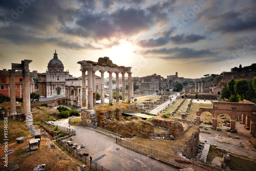 Poster Rome The Roman Forum at dawn, Rome