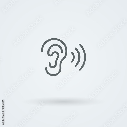 Stock minimalist icon ear. Fototapet