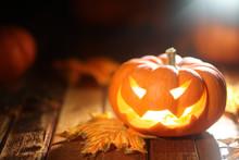 Halloween Jack O' Lantern Back...