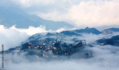 Sapa in the mist ,VietNam