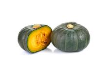 Green Pumpkin  On White Background