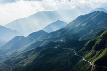 Mountain View En Route  From Sapa Vietnam With Sun Ray
