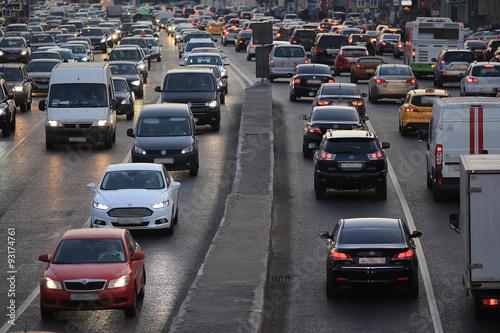 Photo  city road vehicles