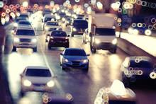 Background Night City Motion Lights