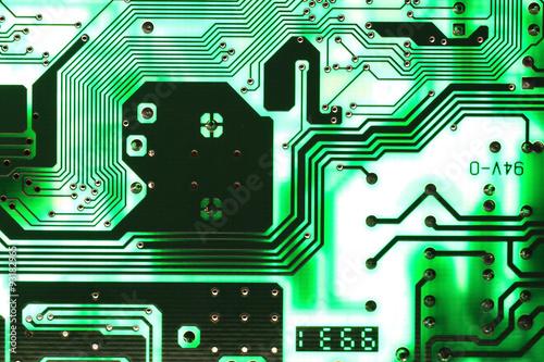Fotografie, Obraz  Microelectronics computer chip background