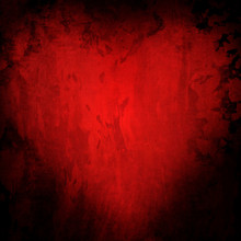 Grunge Red Background With Heart