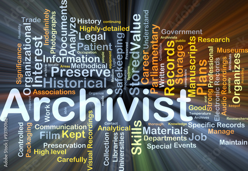 Archivist background concept glowing Wallpaper Mural