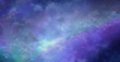 canvas print picture - Beautiful Heavens Above background  - Deep space wide blue banner showing cloud formation, planets, stars and ethereal coloring