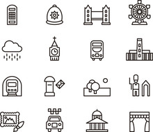 LONDON Outline Icons