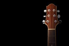 Guitar Head Stock On Black Background