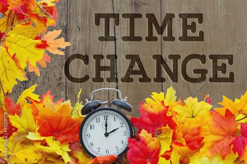 Foto op Canvas Jacht Fall Time Change