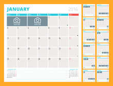 Monthly Calendar Planner For 2...