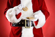 Santa: Holding Plate Of Cookies