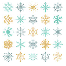 Snowflakes Vector Set Collect...