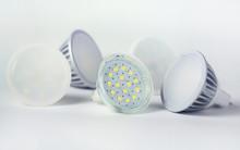 Group Of Led Bulbs Closeup On ...