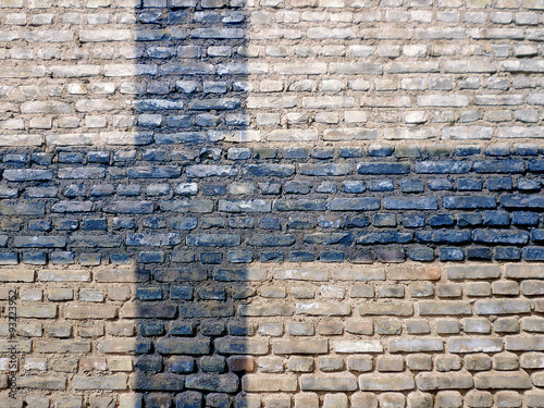 Fotografie, Obraz  Finland flag painted on a wall