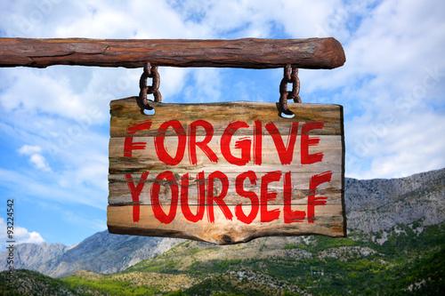 Fotografía  Forgive yourself sign