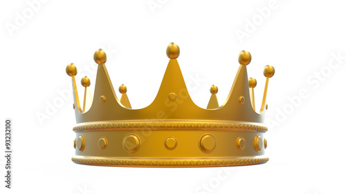 A Gold Crown For King And Queen As Graphic Resource On White