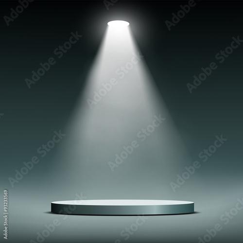 Fotografie, Obraz  Lantern illuminates round scene.